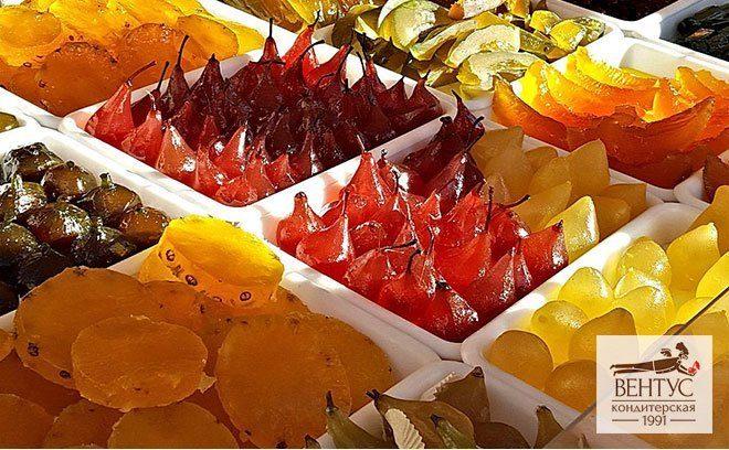 Засахаренные фрукты, цукаты