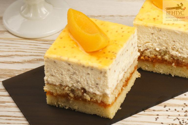 Пирожное - Чиа-Персик