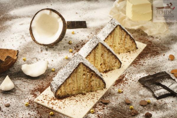 Пирожное - Кокос Пирамида