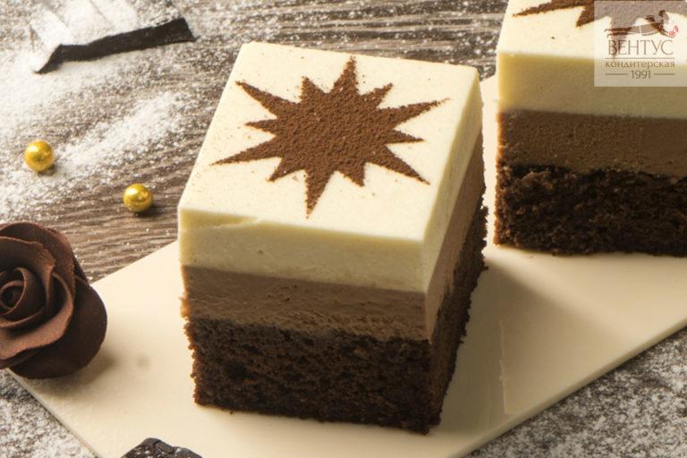 Пирожное - Два шоколада