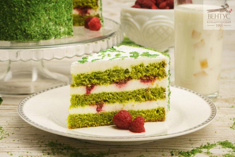Торт - Шпинат-малина